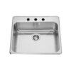 Single Sink No Ledge Center Drain 200CDLL