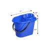 Plastic Pail With Cone Wringer W081M