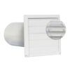 White Vent Hood with Screen Plastic 4 76-0012