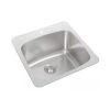 Single Sink No Ledge Center Drain 201CDWL-1